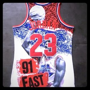 Micheal Jordan 1991 All Star Jersey M & Ness NWT